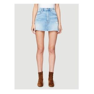 FRAME Denim Distress Lara Stone Mini Skirt 27